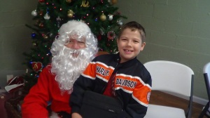 Breakfast with Santa allowed parents to get a free print of their child with Santa.