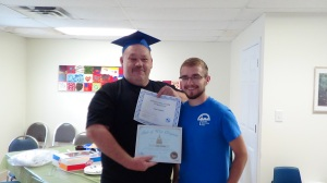 Ernie is just one of our students who earned their GED with the support and encouragement of our Adult Education tutor Jimmy Owsley.