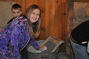 """Our after school students took a field trip to Heritage Farm in Huntington WV to experience life """"back in the day""""."""